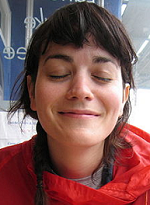 Girl with both her eyes closed