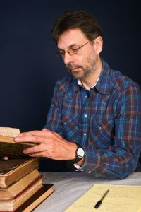 researcher reading books