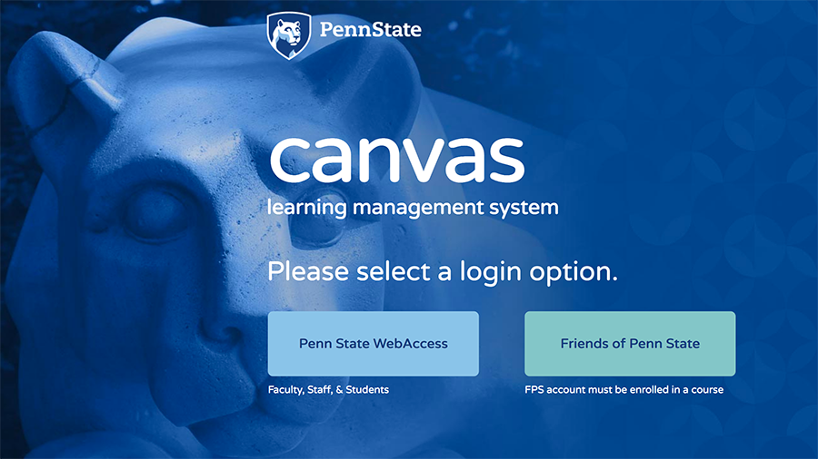 Canvas home page