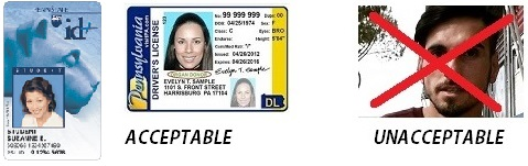 Acceptable and unacceptable types of ID